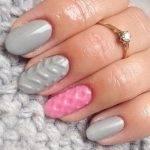 «Вязаные» ногти — зимний тренд в маникюре