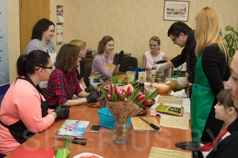 Мастер-класс по приготовлению суши в Минске